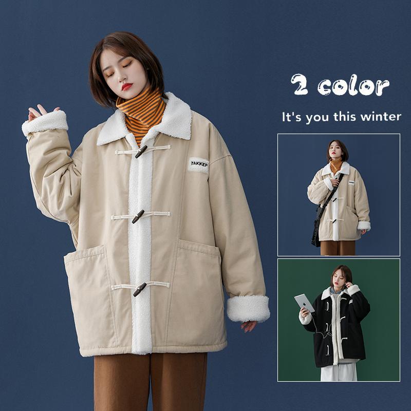 2020冬款中性羊羔毛拼色大口袋休闲棉衣X1   A325-M2005-P138