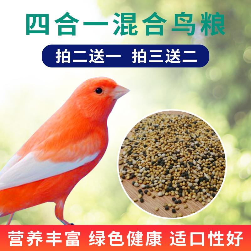 四合一混合食糧の芙蓉鳥の金糸雀の玉鳥は鳥の食糧の飼料の黄雀の金翅雀の日常の鳥の食糧の1斤を食べます。