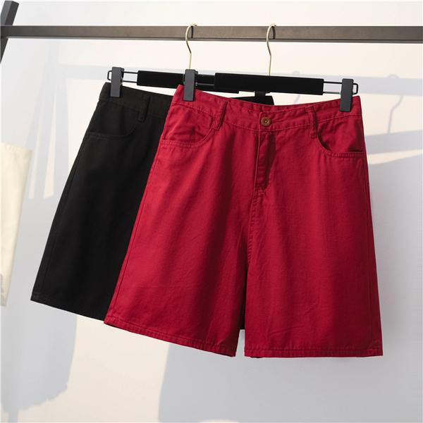 TS8706#春夏季新款大码女装短裤女工装五分裤高腰中裤热裤