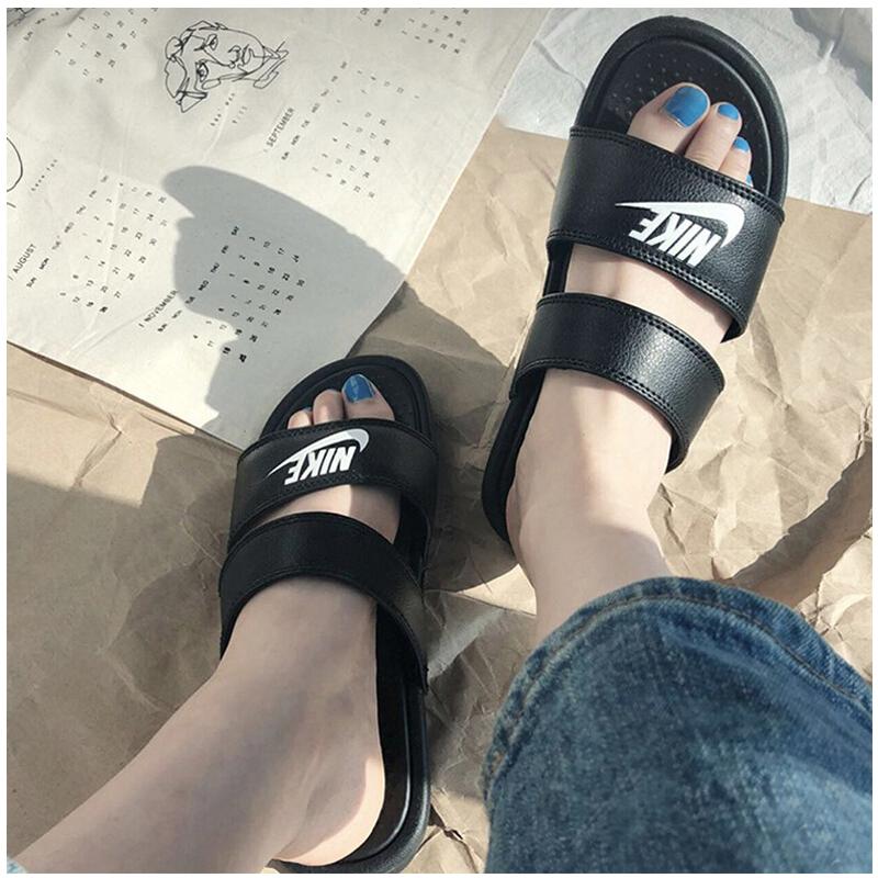 耐克男鞋女鞋2019夏季新款休闲拖鞋满99元可用5元优惠券
