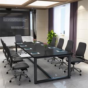 简约现代大班台会议桌办公桌会议长桌长方形培训桌会议桌大电脑桌