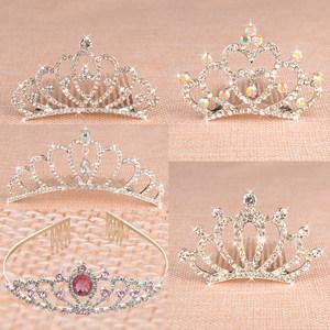 儿童发饰公主发箍小女孩发卡女童水钻头箍发梳皇冠韩版百搭头饰