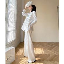 高级感炸街白色西装套装女春装新款时尚气质西服两件套栀久定制