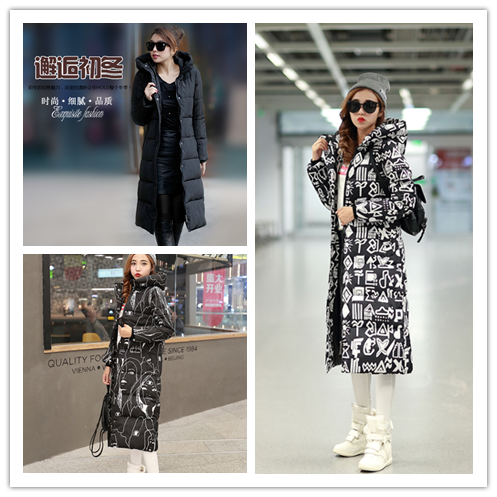 [special price every day] Korean fashion slim long coat cold proof warm cotton padded jacket for women