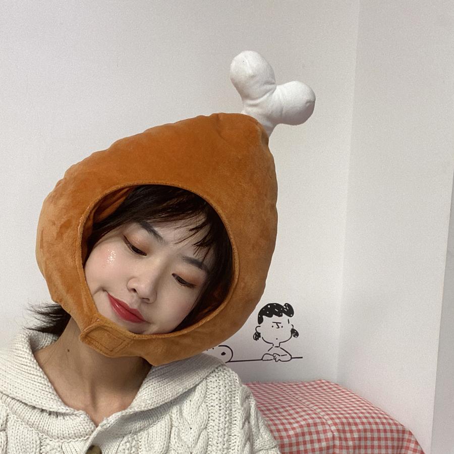 日韩ins少女心可爱搞怪头套帽子