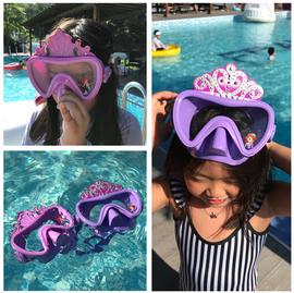 美国儿童大视野游泳潜水镜面具蜘蛛侠卡通泳镜男童浮潜玩水女童