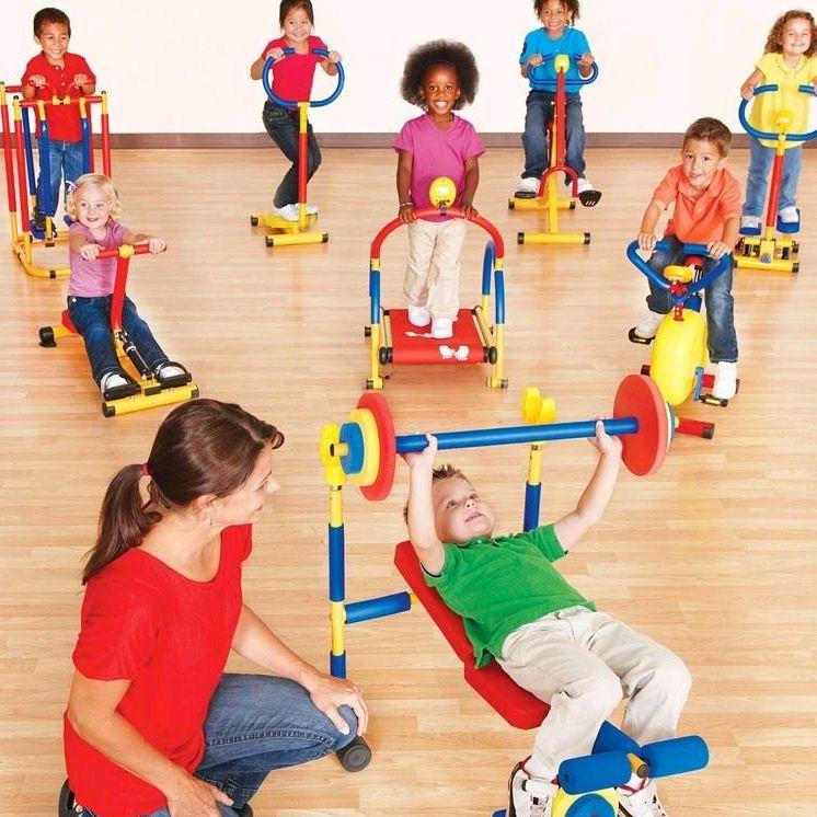 Childrens fitness equipment kindergarten sports facilities fitness bike thruster feeling training childrens Treadmill