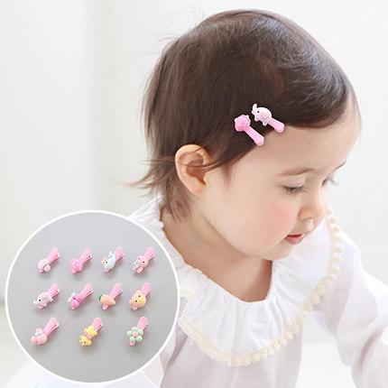 儿童发饰宝宝发夹女童头饰可爱卡通动物亚克力婴儿发卡卡子边夹