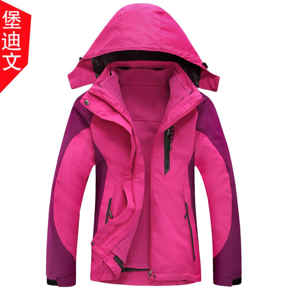 Осень-зима новая коллекция Разгрузочный флис наборы Куртка три-в-одном утепленный большой размер Наружная одежда хлопок Женская одежда