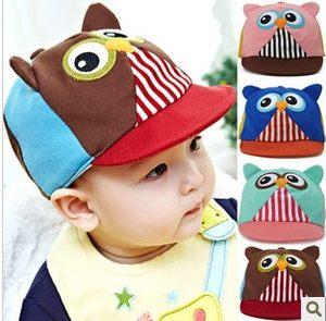公主媽媽春季新款嬰兒帽子棒球帽寶寶鴨舌帽貓頭鷹造型遮陽帽