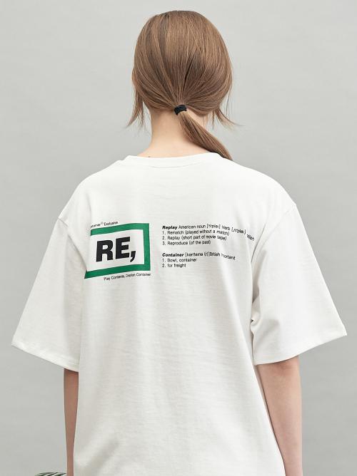 代购 REPLAY CONTAINER男女20年新款夏季圆领短袖休闲T恤背面图