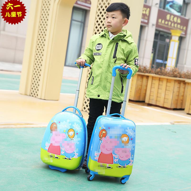 定制儿童拉杆箱卡通小学生行李箱18寸万向轮男女童可坐可骑旅行箱