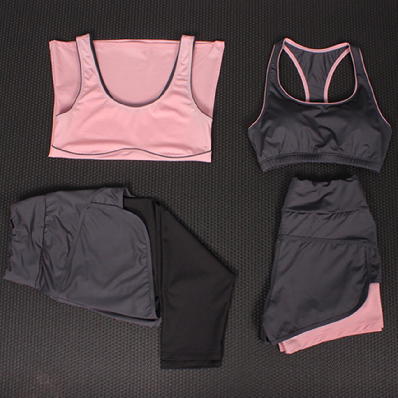 Лето йога одежда пять частей женщины одеваются тонкий жилет фитнес дом бег ударопрочный бюстгальтер отпуск движение узкие брюки