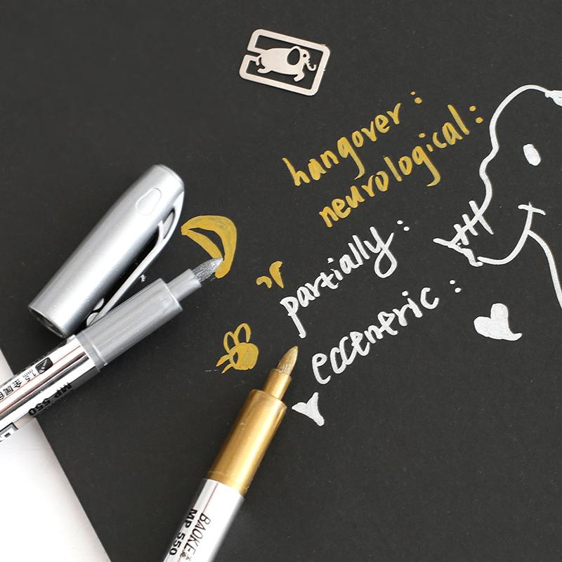 Простой DIY черная карта бумага специальный краски карандаш поздравительные открытки альбомы фото специальный металл цвет пометка карандаш граффити карандаш