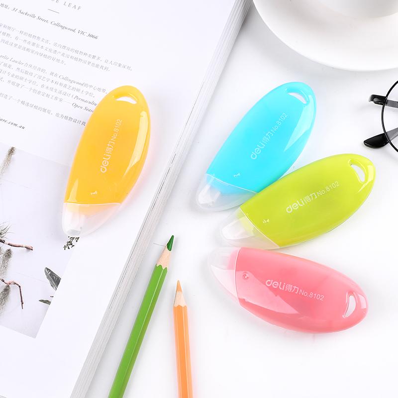 韩国文具 得力文具 可爱糖果色改正带 修正带涂改带 学习考试涂鸦