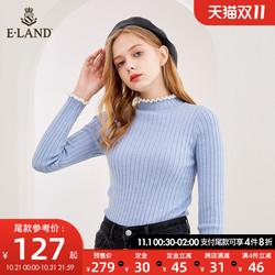 100%羊毛【预售】ELAND新款ins打底初恋针织衫木耳边EEKW98911I
