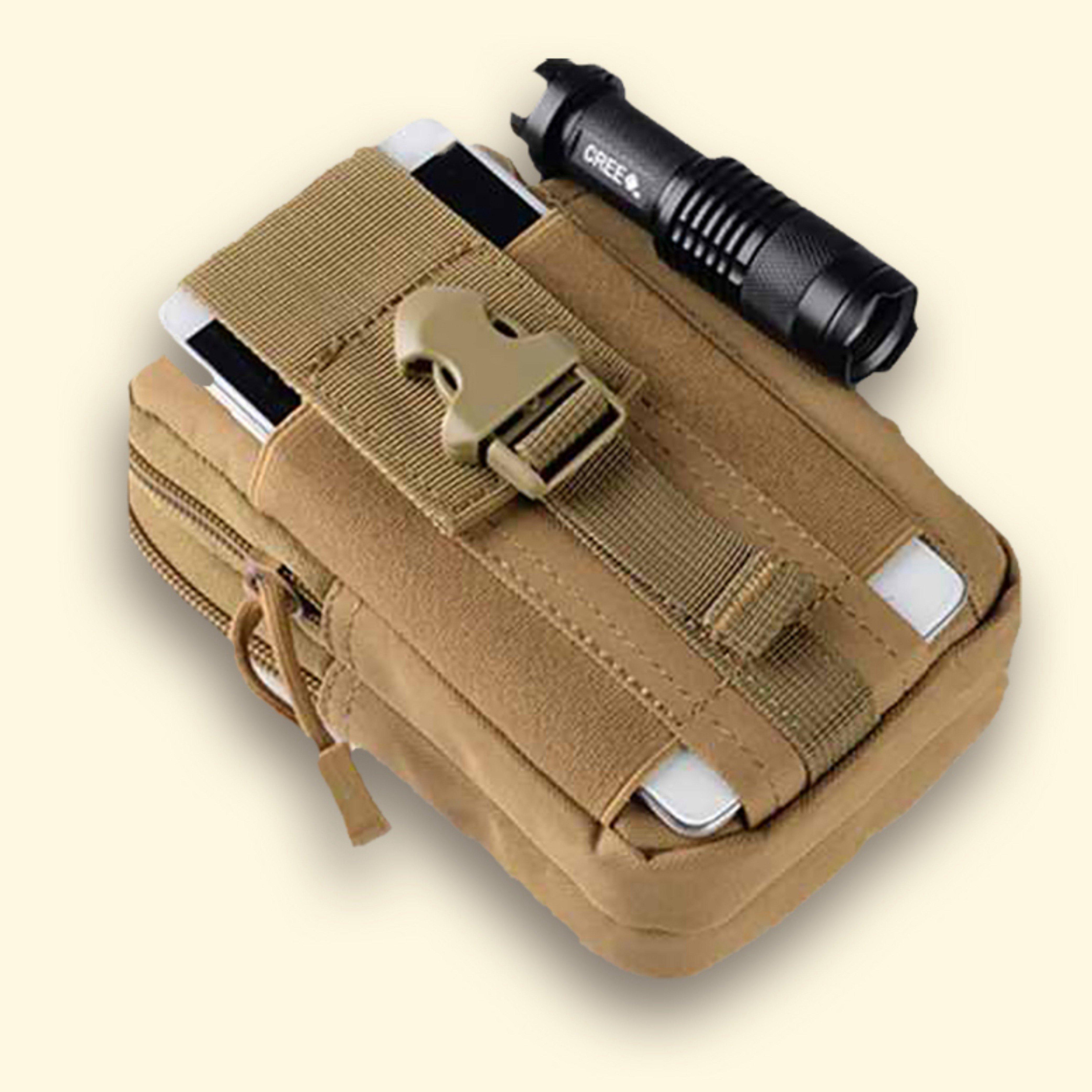 6.5寸手机包多功能双层穿皮带腰包男户外干活工人手机包运动挂包