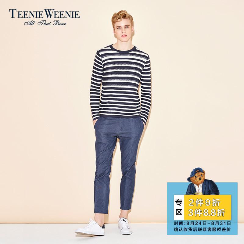 TeenieWeenie小熊夏男商场同款商务休闲直筒长裤裤子潮TNTC72321B