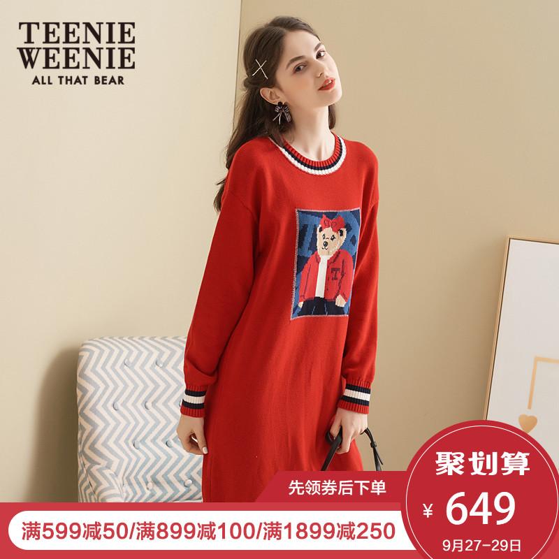 TeenieWeenie小熊2018秋冬女装连衣裙TTOK88T03I