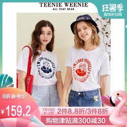 TeenieWeenie小熊女装2019夏季新款卡通超火cec短袖t恤宽松韩半袖