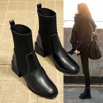 SS04116706冬季新款休闲系带纯色短靴女靴2020星期六英伦风马丁靴