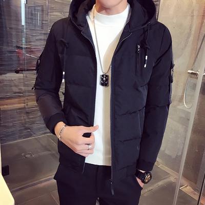 已质检 冬装新款男装棉衣夹克 A014-M08-P130 黑色