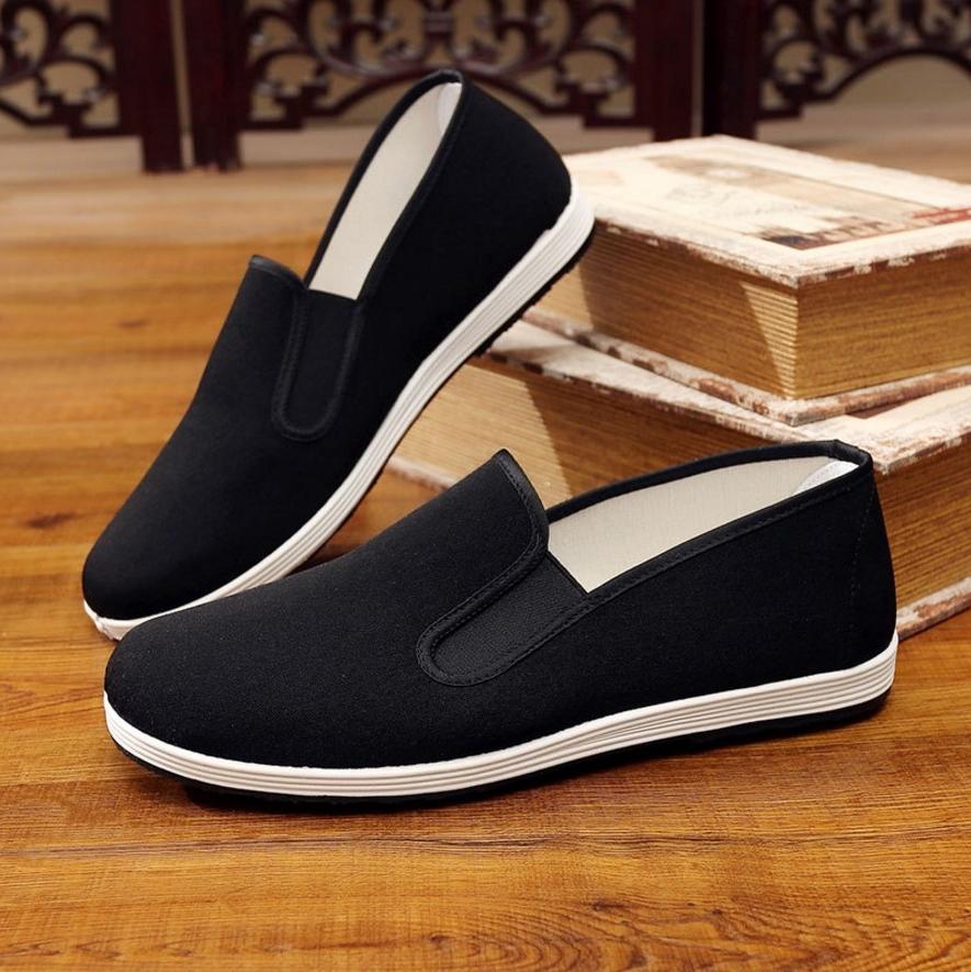 男士超大码老北京布鞋加肥工作休闲单鞋特大号板鞋46 47 48 49 50