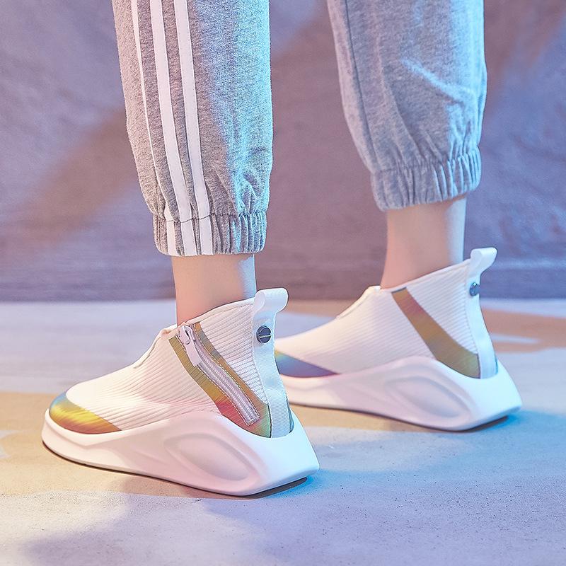 Hip hop high top womens 2018 new Korean ulzzang casual autumn womens sports shoes fashion Europe station