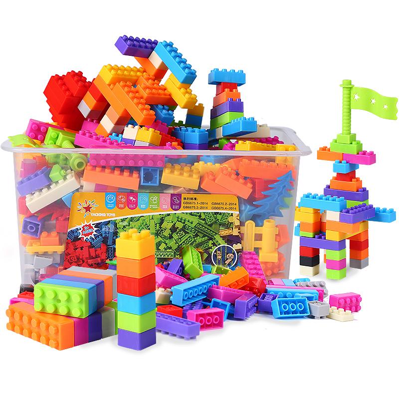 儿童积木小颗粒拼装玩具多功能塑料益智男孩子岁女孩拼装拼插玩具限3000张券