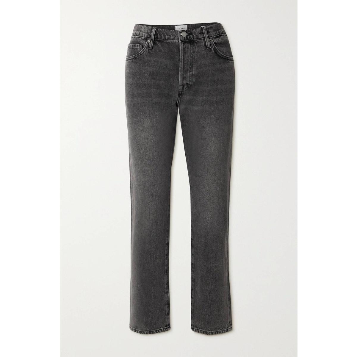 包税代购Frame Denim Le Slouch 低腰直筒牛仔裤女2021新款奢侈品