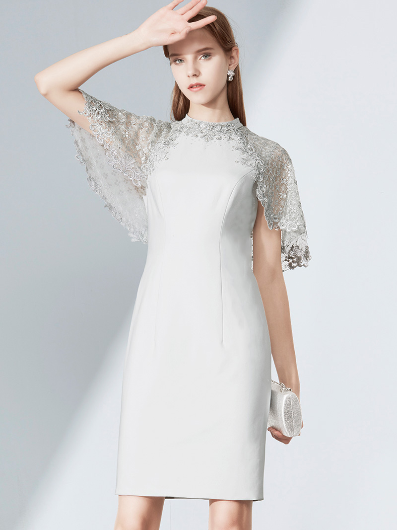旗袍名媛聚会连衣裙伴娘服女装秋洋装小礼服礼服裙女2018新款礼服