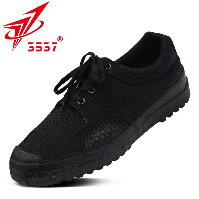 3537正品解放鞋男军鞋黑色作训鞋女耐磨训练工地劳动鞋帆布胶鞋夏