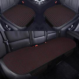 汽车坐垫单片防滑无靠背三件套亚麻四季通用新款后排长条三人座垫