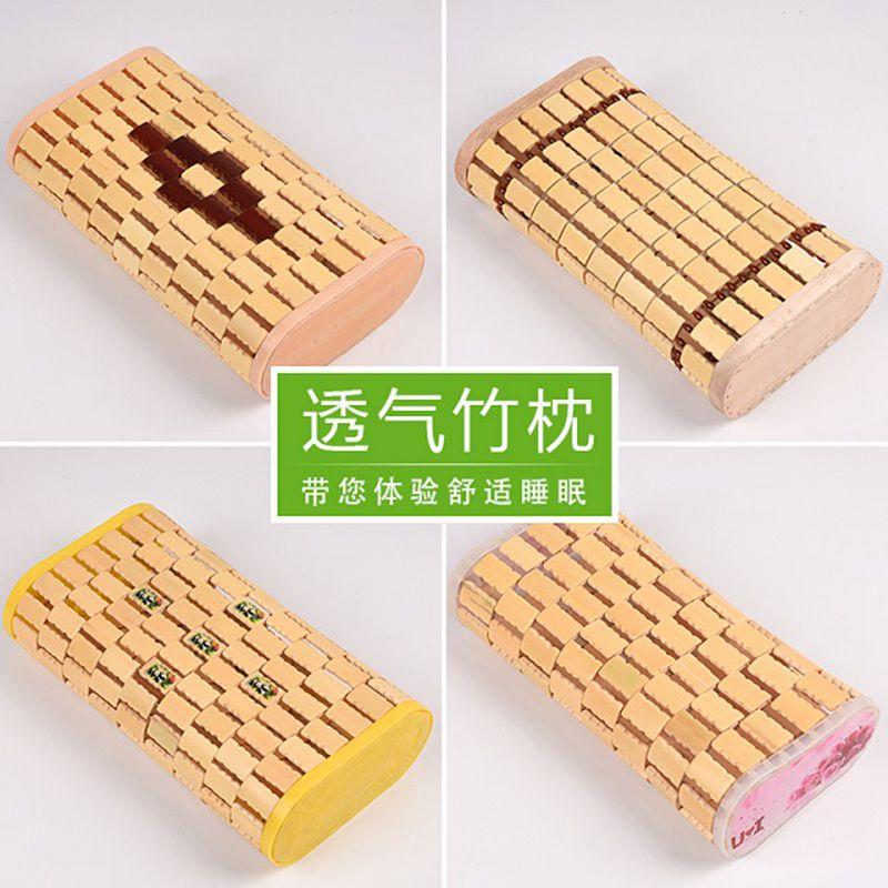 夏季小麻将竹枕头空心单人家居保健枕...