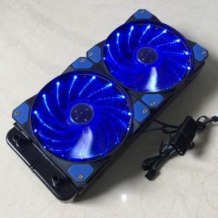 电脑水冷排铝美容医疗设备电摩散热排纯铝240 双风扇散热器换热器