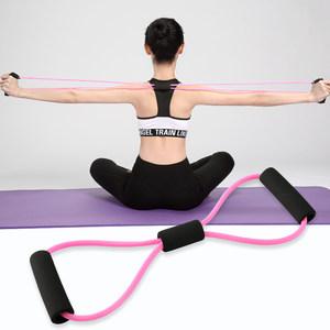 8字拉力器家用健身弹力带瑜伽男女开肩神器美背肩颈拉伸运动器材