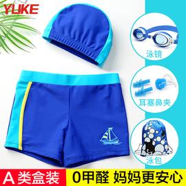 【A类】儿童泳裤男童中大童分体泳衣套装宝宝游泳裤小童泳装装备图片