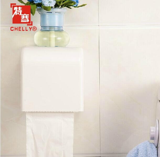 防水吸盤紙巾架衛生間紙巾盒廁所卷紙架廁紙卷紙盒手紙盒衛生紙架