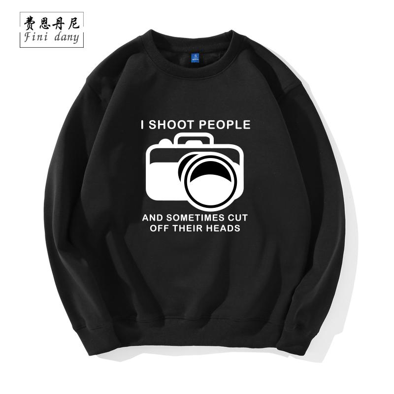 I SHOOT PEOPLE 摄影师摄像师棉圆领卫衣数码单反相机光圈卫衣