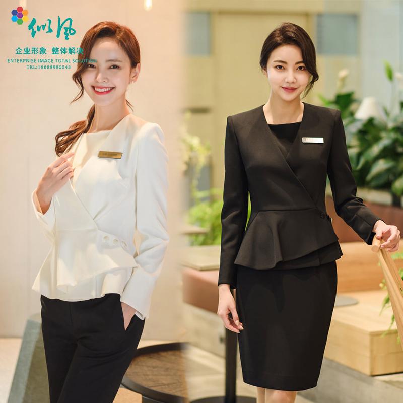 韩版高档整形医院前台顾问经理职业套装女办公室导购专柜销售工服
