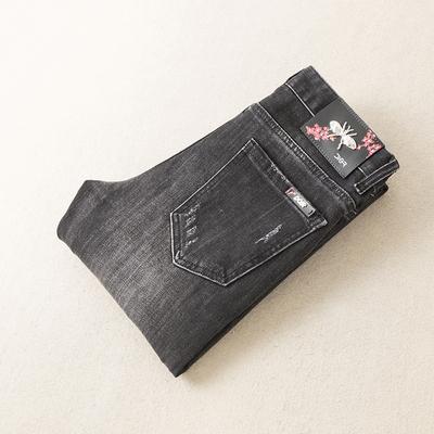 2019秋冬新款男士灰色破洞复古牛仔裤 货号9116 P170 控价210