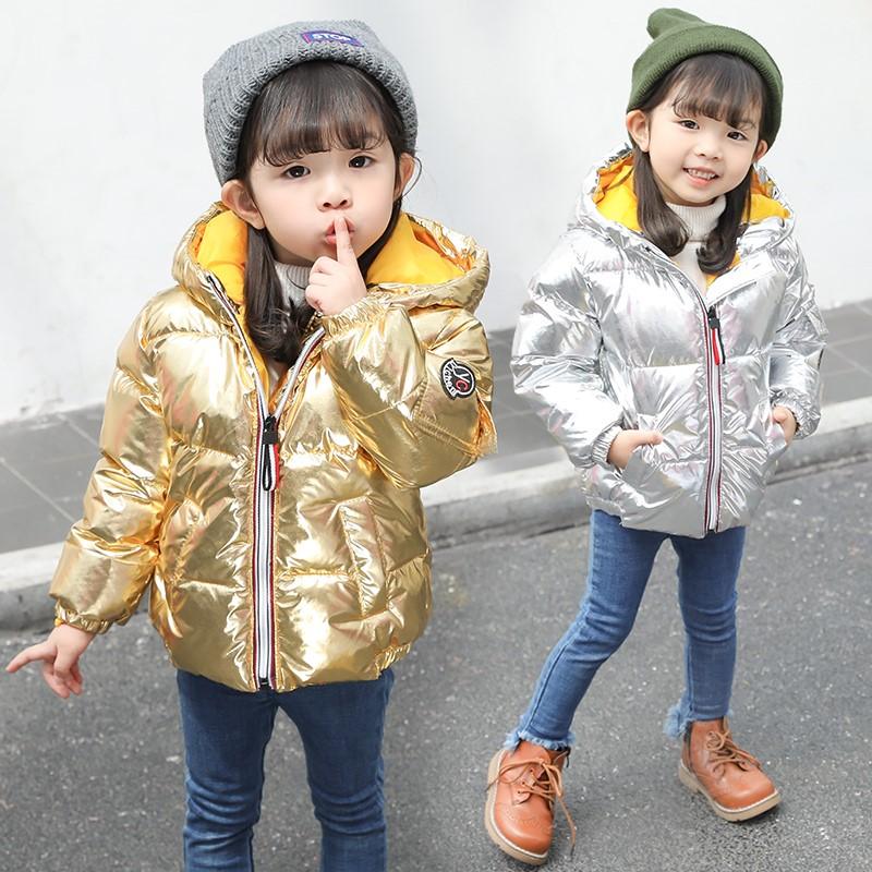 宝宝女童羽绒棉服时尚2018小童小女孩童装棉衣棉袄新款冬装1-10岁