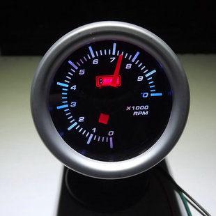 Cars inductance tachometer LED light emitting pointer with mounting base waterproof adjustable speed