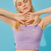 秒发CRANK薄款修身字母标志打底吊带背心女20夏新款上衣韩国代购