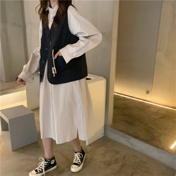 女2019新款韩版复古中长款连衣裙12月03日最新优惠