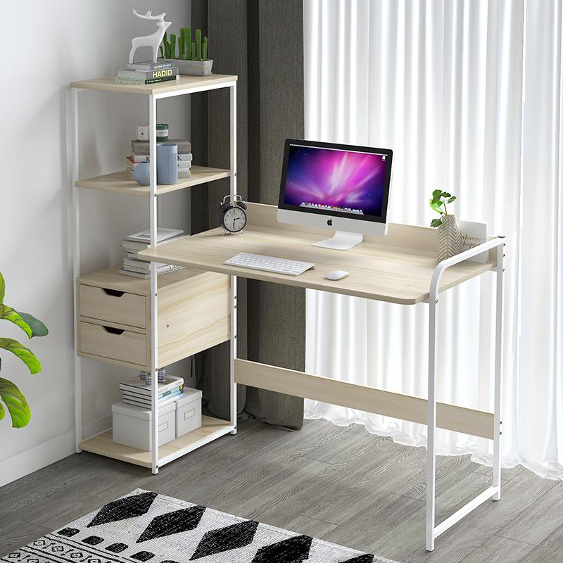 简易书桌书柜电脑桌简约现代带书限1000张券