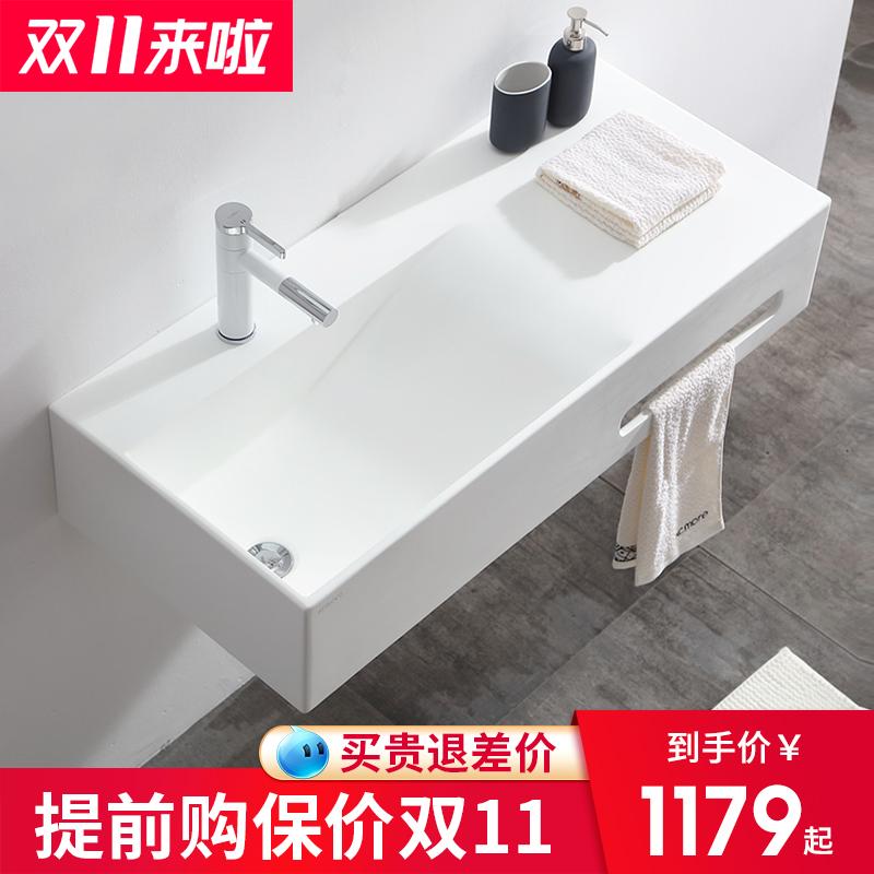 挂墙式洗手盆小户型卫生间洗脸盆挂盆洗面盆洗脸池家用简易洗手台
