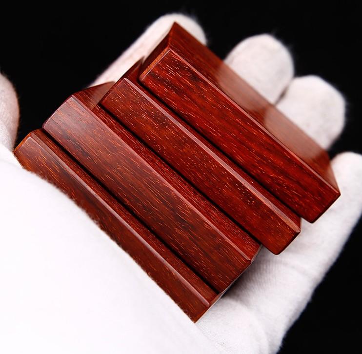 正宗印度小叶紫檀无事牌挂件高油性diyl料紫檀木料手把件雕刻46牌