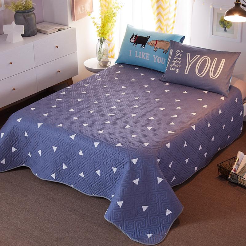 床盖单件/三件套纯棉绗缝夹棉床单衍缝被床上床铺盖套韩式韩国ab