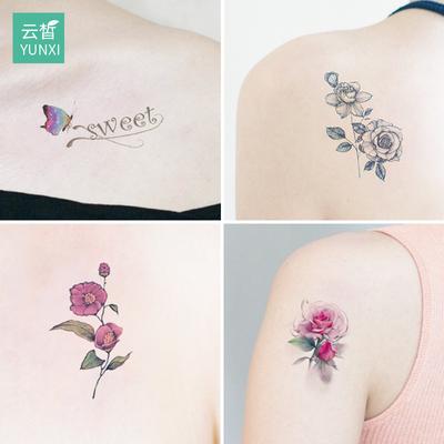 60张新款纹身贴防水女男持久ins小可爱仿真性感网红纹身贴纸图案